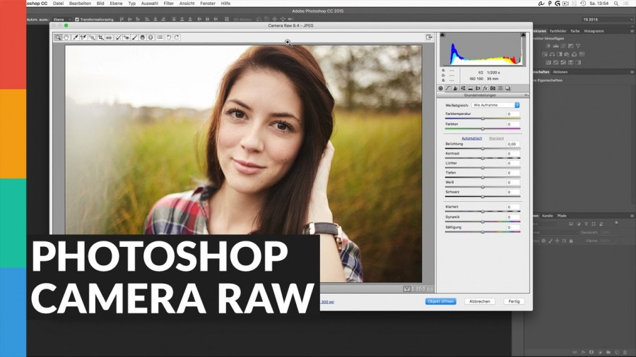 Photoshop Camera RAW Modul nutzen
